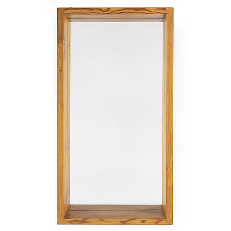 A second half of the 20th century pine framed mirror.