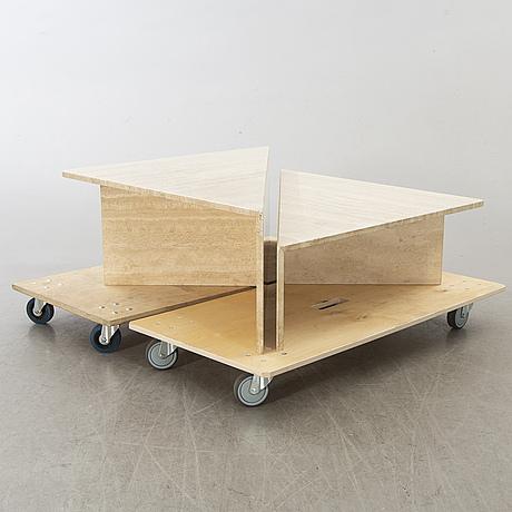 Soffbord, två delar, 1970/80-tal.