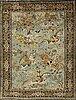 Matta, ghom old silke figural, ca 154,5 x 107,5 cm.