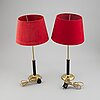 A pair of table lamps, karlskrona lampfabrik, second half 1900's.