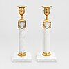 A pair of late 19th-century candlesticks.