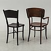 A set of 4+1 chairs by thonet, early 20th century.