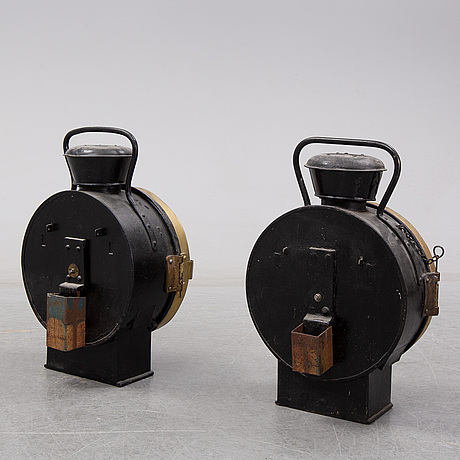 A pair of late 19th century lanterns.