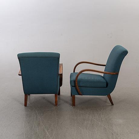 FÅtÖljer ett par swedish modern 1940/50-tal.
