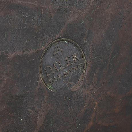 PlÅtmynt, 4 daler silvermynt, koppar, fredrik i, 1720.