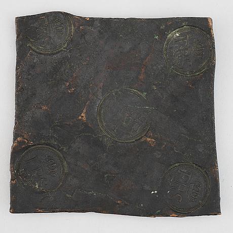 PlÅtmynt, 1 daler, koppar, fredrik i, sverige, 1747.