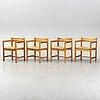 BØrge mogensen, four 'asserbo' chairs, karl andersson & söner.