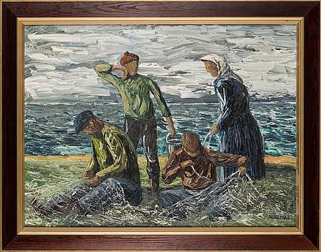 Boris ninemae, oil on canvas, signed.