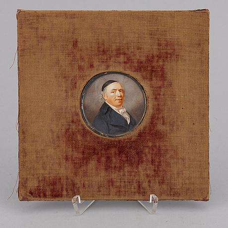 Johan erik bolinder, a miniature gouache, signed.