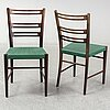 Four 1930s/1940s chairs by gemla, sweden.