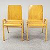 Axel larsson, stolar, 6 st, svängsta stilmöbler, 1900-talets mitt.