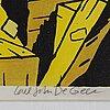 Carl johan de geer, litografi, signerad och numrerad 103/290.