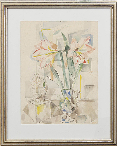 Jules schyl, watercolour signed and dated.