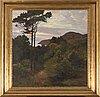 Herman Österlund, oil on canvas sgined.