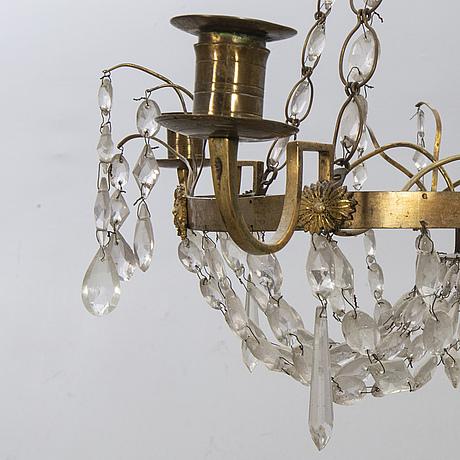 Ljuskrona, sengustaviansk, 1800-tal.
