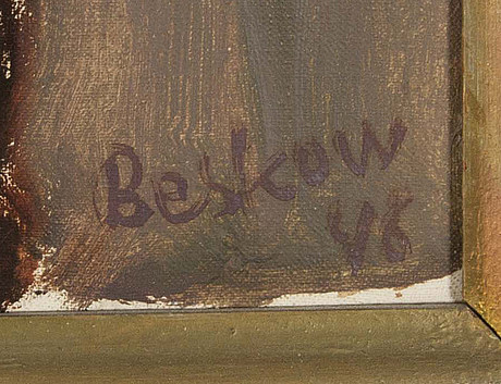 Bo beskow, oil on canvas signed and dated 46.