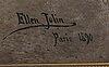Ellen jolin, olja på duk signerad och daterad paris 1890.