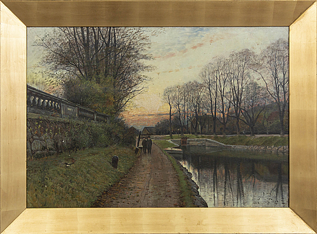 Justus lundegÅrd,  oil on canvas signed and dated 1889.