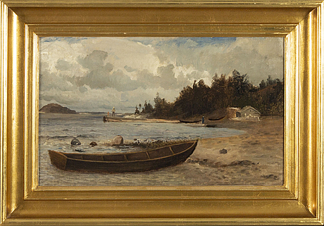 Gustaf rydberg,  oil on canvas signed.