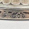 William gibson & john lawrence langman, ljusstakar ett par silver london 1894.