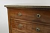 A late gustavian chest of drawers.