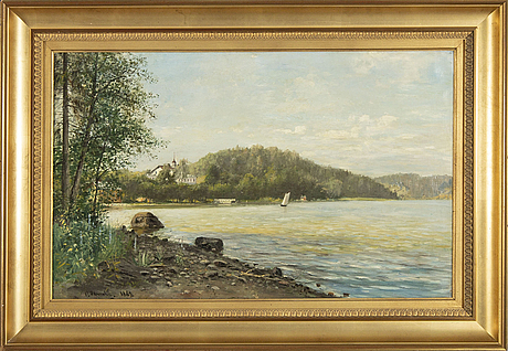 Olof hermelin, oil on canvas signed and dated 1889.