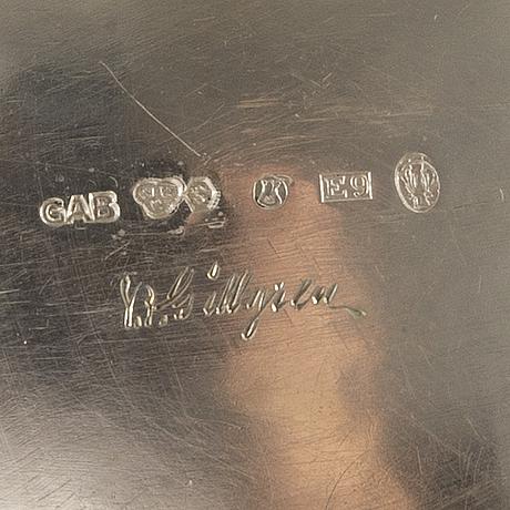 Kaffekanna och sockerskÅl, silver, sven-arne gillgren för gab, stockholm 1900-talets mitt. total vikt ca 720 gram.