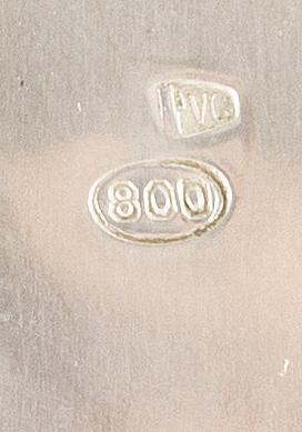 Teservis 4 dlr låghaltigt silver tidigt 1900-tal.