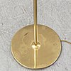 A bergbom brass and glass floor lamp, first half of the 20th century.