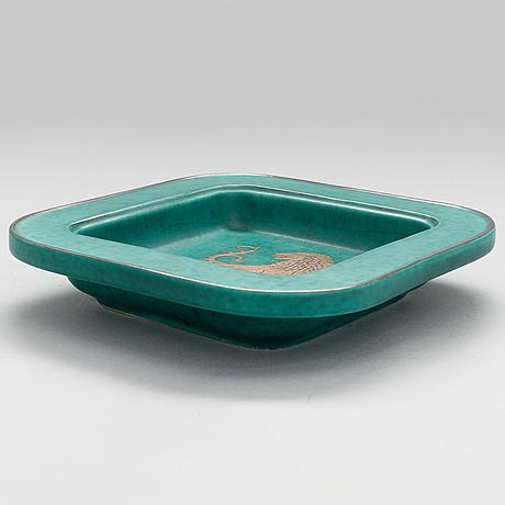 """Wilhelm kÅge, a stoneware plate """"argenta"""", gustavsberg."""