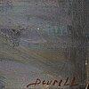 Sven deurell, oil on panel, signed.