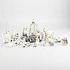 Samling av porslinsdjur, 20 st, bland annat royal copenhagen och dahl jensen, 1900-talets andra hälft.
