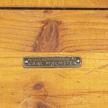 A swedish 1960s carl malmsten pine wood sofa.