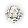 An 18k white gold diamond ear stud.