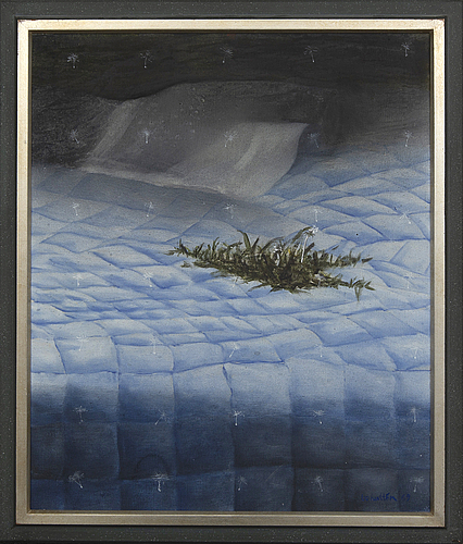Bo hultÉn, oil on canvas signed and dated.