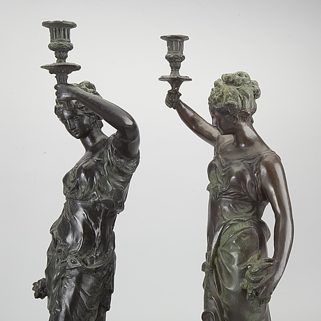 Ljusstakar, ett par, 1900-tal.