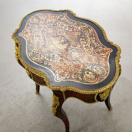 A french louis xv style boulle inlay writing desk.