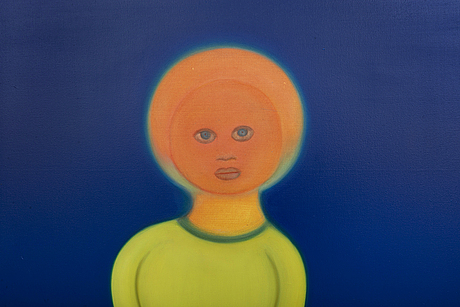 Mari sunna, a signed and dated oil on canvas.