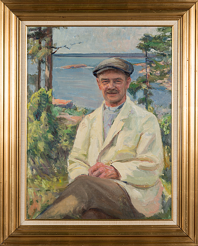 Pekka halonen, oil on canvas, signed and dated 1901.
