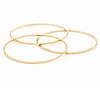 Bangles, 3 identical, 18k gold,  inner circumference approx 19 cm, no opening mechanism.