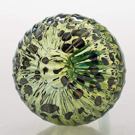"Oiva toikka, glasskulptur, ""pumpa"" (stor), glas, signerad o toikka nuutajärvi."