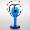 Oiva toikka, a 'lollipop' glass sculpture signed oiva toikka, nuutajärvi 2004, 38/200.