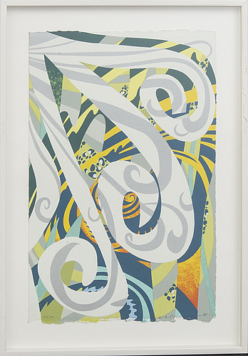 Karl axel pehrson, serigraph in colours signed dated and numbered.