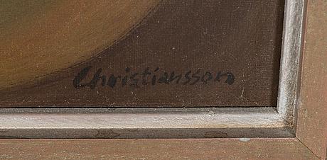 Jouko christiansson,  akryyli kankaalle, signeerattu. maalattu 1975.