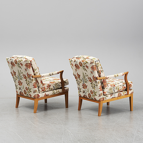 BrÖderna andersson, a pair of 20th/21st century easy chairs.
