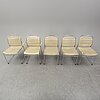 Kenneth bergenblad, five chairs, dux, second half of the 20th century.
