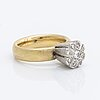 Ring 18k gold and whitegold brilliant-cut diamonds approx 0,20 ct, total weight 12,2 g, orrlings guld veijbystrand 2009.