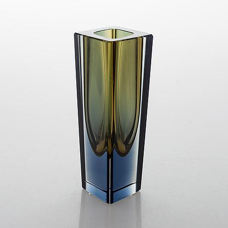 "Kaj franck, a glass vase ""prisma"". signed k franck nuutajärvi notsjö -63."