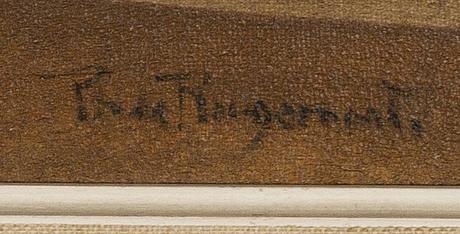 Philippe de rougemont, olja på duk signerad.