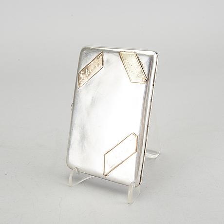 A 1908-1926 russian silver cigarette case.